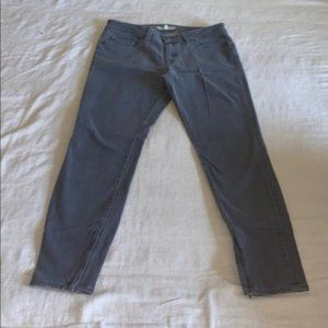 Joie Gray Zippered Super Skinny Jeans 28
